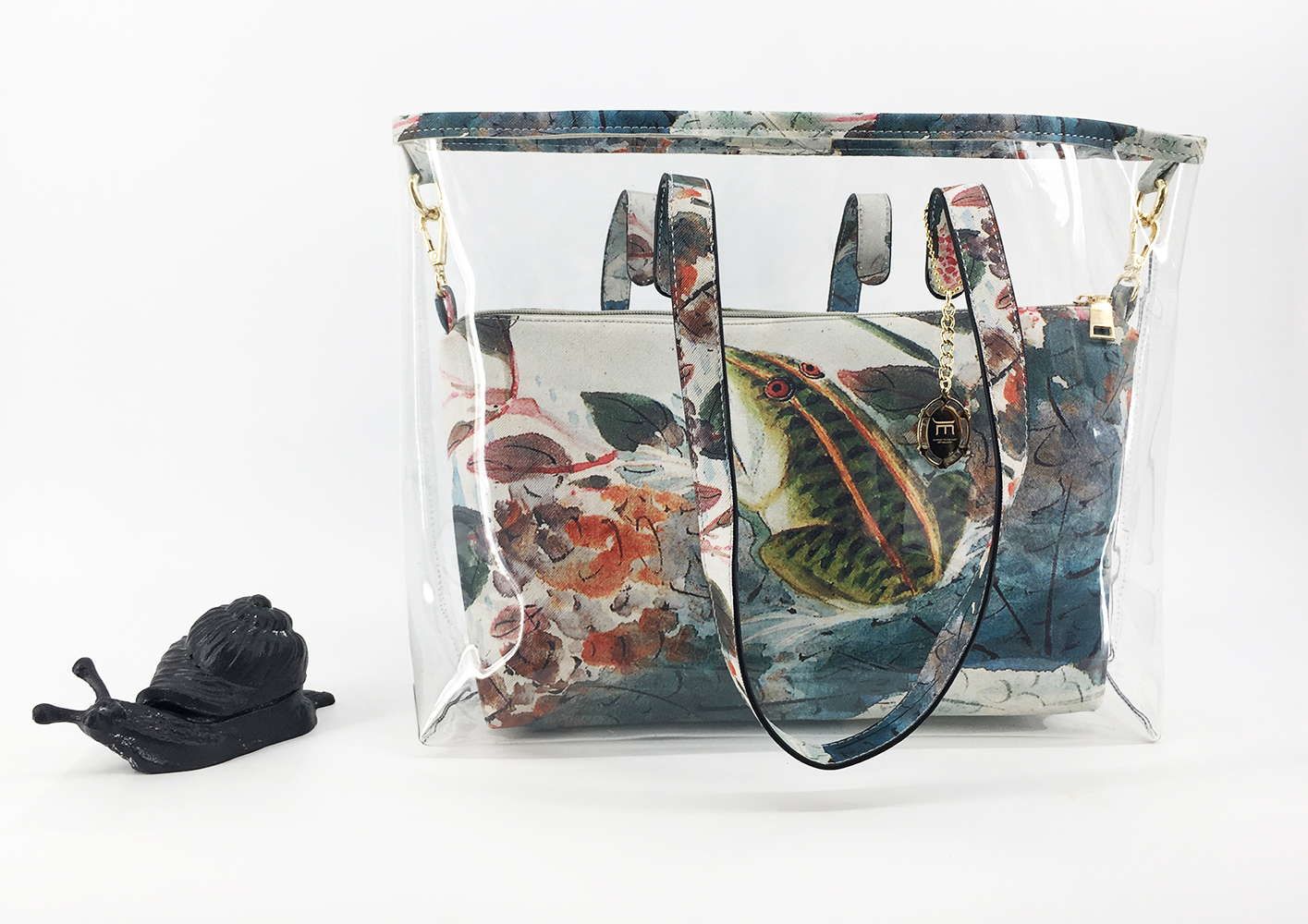 JE Artist Clear Tote Bag Lotus Pond in Summer