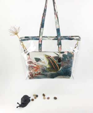 JE artist clear tote bag lotus pond in summer 1
