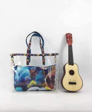 JE artist clear tote bag mountain color