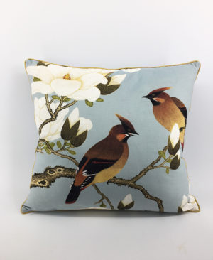 Bird Cushion, Velvet Cushion, Chinoiserie pillow