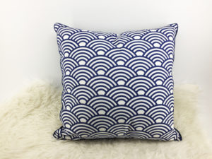 Blue Cushion, Velvet Cushion 1