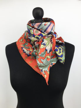 Chinoiserie, Floral Silk Scarf 5