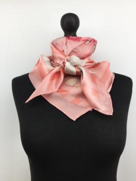 Chinoiserie Silk Scarf, Pink Silk Scarf 3
