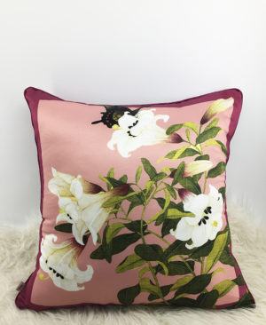 Floral Cushion, Chinoiserie pillow