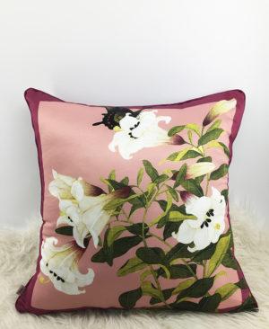 Floral Cushion, Chinoiserie pillow