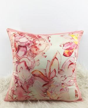 Goldfish Cushion, Chinoiserie pillow 1 copia