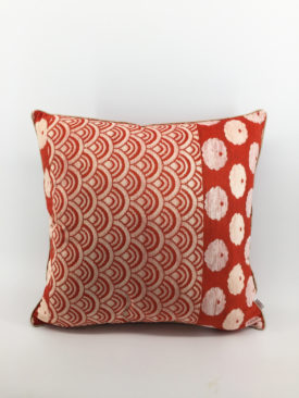 Japanese Cushion, Red Velvet Cushion 1